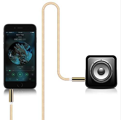 Cable Jack/Metal pour Meizu MX6 Smartphone Voiture Musique Audio Double Jack Male 3.5 mm Universel (Noir)