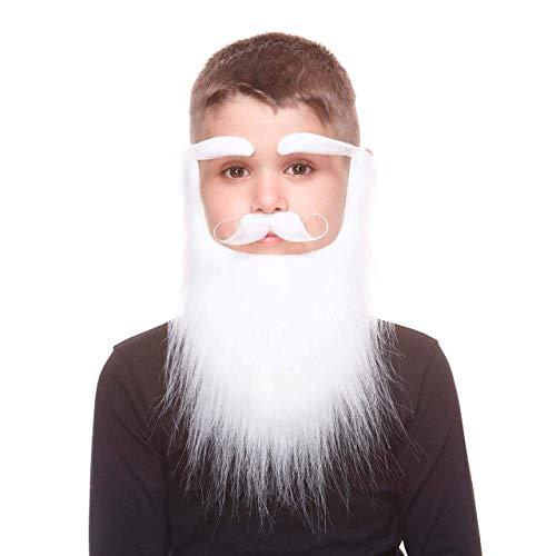 MY OTHER ME FUN COMPANY, SL Barbe Moustache Sourcils Blancs Professionel pour Enfant
