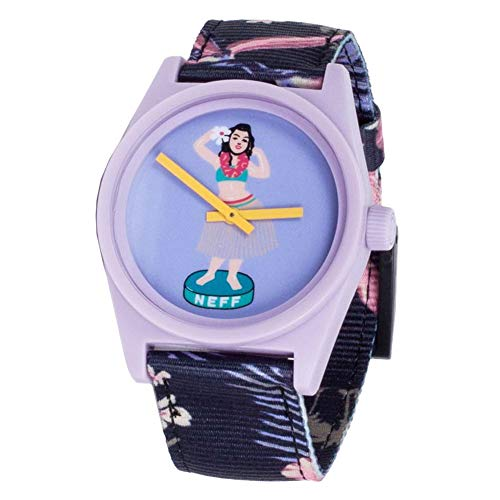 Neff Unisex Daily Wild Analog Watch Charcoal/Floral Purple