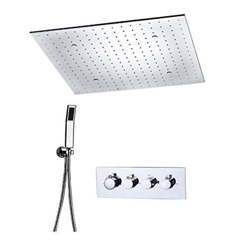Best Bargain YAOSHI-docce Showers and Shower Components Thermostatic Mixed Rainfall Shower Head Mass...