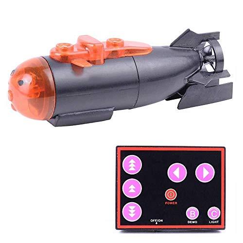 ADLIN RC Mini Submarino Submarino Remoto Juguete de Control, Modelos de Barcos electrónico subacuática Impermeable Sumergible, a Distancia Juego Rango Justo en el pez Tankand Bañera