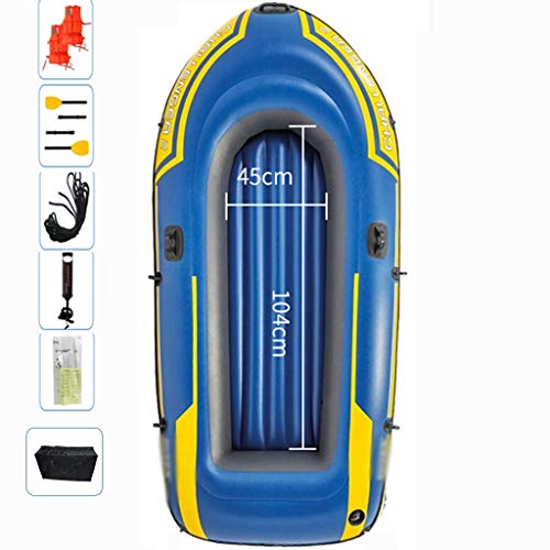 YUESFZ Kayak Gonfiabili Canoe Rigide Sea Challenger Kayak, Zattera Pieghevole Per Il Tempo Libero All'Aperto, Canoa Addensata A Camera D'Aria Addensata, 200 / 320KG (Color : Blue-D, Size : 7.7Ft)