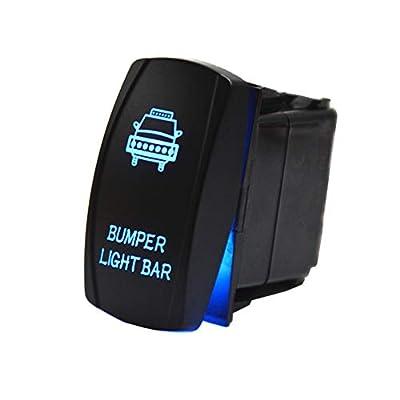 12V 24V Rocker Switch Blue LED Light For Car Boat Truck ATV UTV