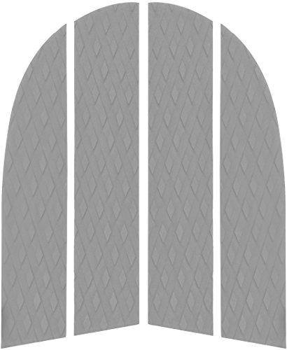 PUNT SURF Dog Traction Pad - 4 Piece Customizable Deck Grip for The Nose of Your Paddleboards, Longboards & Surfboards. - Guaranteed to Stick Forever on Your Board [Gray]