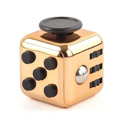 Juguete Cubo FidgetToys mágico,cube Anti-ansiedad Anti-Stress Cube FidgetToy para niños,Adolescentes y Adultos Stress Color Dorado