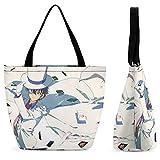 Detective Conan Kaito Kuroba Bolsa de compras portátil de gran capacidad, casual y versátil, moda tendencia, bolsa de viaje con un solo hombro, protección del medio ambiente