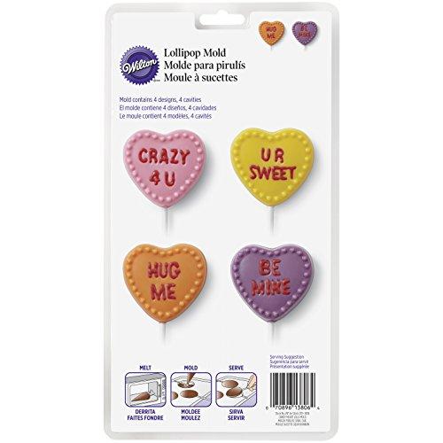 Wilton–conversación Corazones Lollipop Candy Molde, Transparente