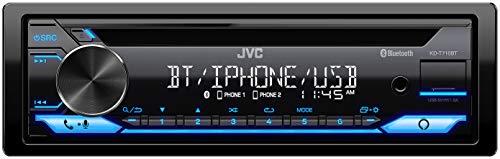 JVC KD-T710BT - CD Car Stereo, Single Din, Bluetooth Audio and Hands Free Calling w/External Microphone, CD, MP3, USB, AUX Input AM/FM Radio, High Power Amp, Amazon Alexa Voice Control