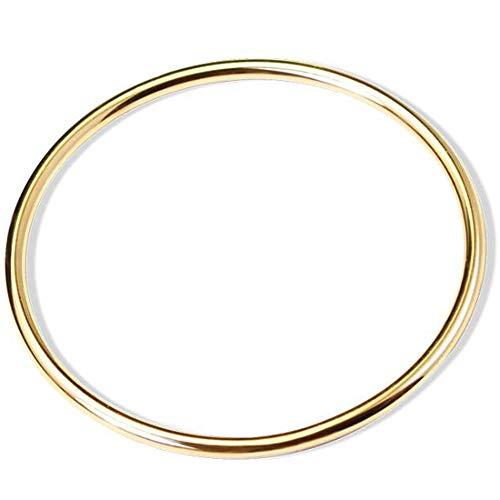 Jude Jewelers - Pulsera de acero inoxidable con círculos redondos pulidos