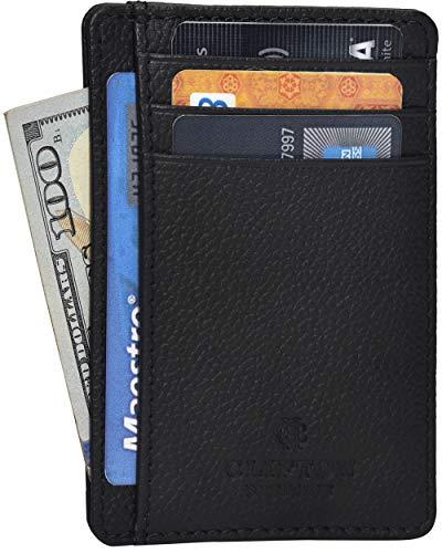 Slim Wallets for Men RFID Blocking Smart Minimalist Leather Wallet