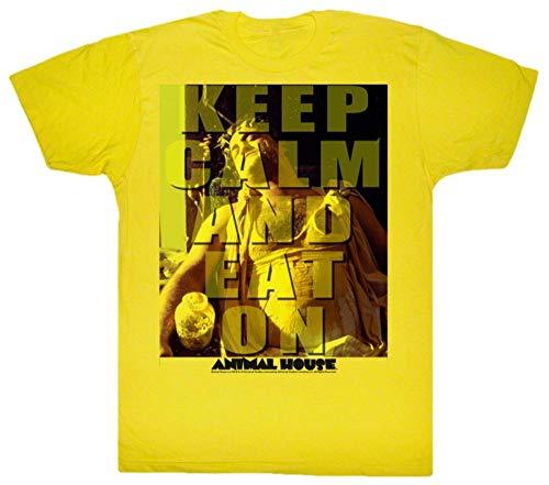 T-shirt Animal House - Eat On L - Jaune