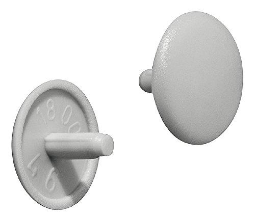 Gedotec Schrauben-Kappen rund Verschluss-Stopfen Kunststoff Möbel-Abdeckkappen grau - H1115 | Ø 12 x 2,5 mm | Loch-Kappen für Kopfloch-Bohrung PZ2 | 100 Stück - Loch-Abdeckungen für Schrauben