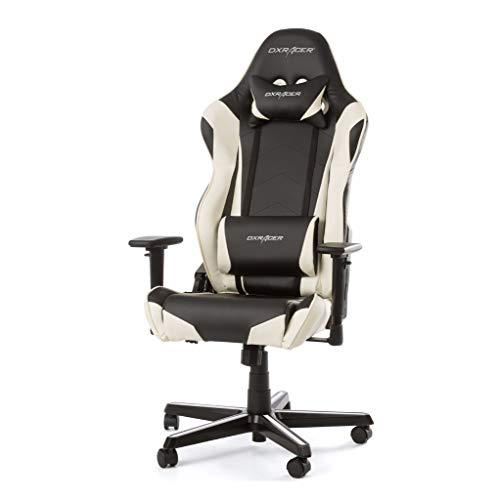 DX Racer Oh/rz0/NW Asiento Gaming Negro/Blanco