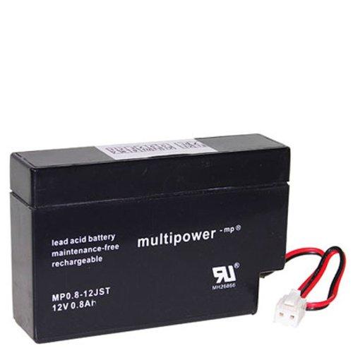 Multipower MP0.8-12JST Bleiakku / Bleigel-Akku / Vliestechnik 12V 800mAh JST kompatibel