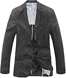 in budget affordable Lightweight men's blazer with two buttons (large and dark gray)