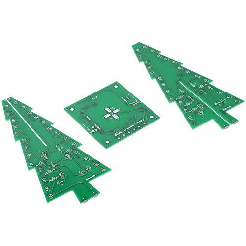 Luz estéreo de colores 3D para Navidad, hazlo tú mismo, luz flash árbol de Navidad estéreo para kit de bricolaje de Navidad
