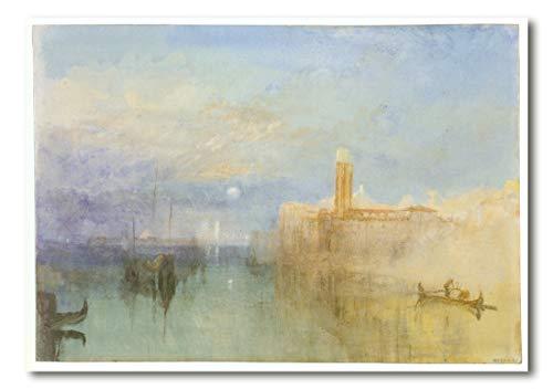 Cuadro Decoratt: Venise au clar de lune - Joseph Mallord William Turner 35x25cm. Cuadro de impresión directa.