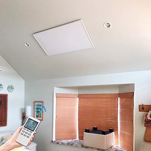 Byecold 550W Infrarotheizung Deckenheizung mit Eingebautem Thermostat Fernbedienung Infrarot Heizung Deckenmontage Heizplatte Heizpaneel Heizkörper Decke Überhitzungsschutz Carbon Crystal