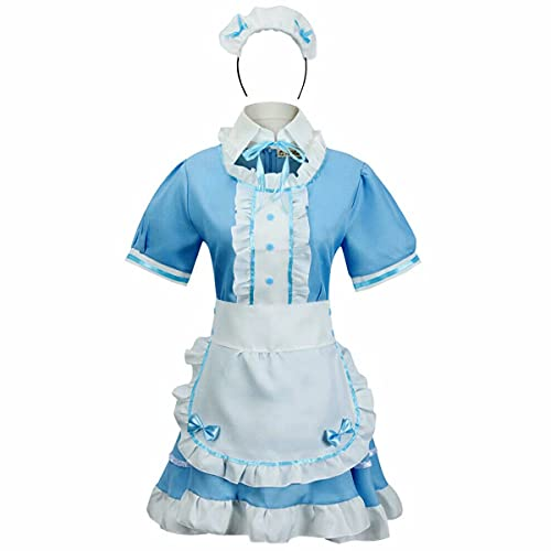 tzm2016 Anime Cosplay Costume French Maid Outfit Halloween, 4 pcs as a set including...