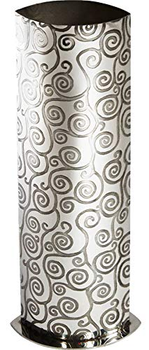 Large Pewter Vase with Tree of Life Pattern Design 250mm x 80mm