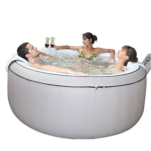 Cablo Aufblasbarer Whirlpool Whirlpool Tragbarer runder Whirlpool Pool Badewanne Fass Konstante Temperatur Massage Innen- / Außenbeheizter Pool