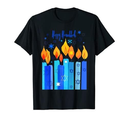 Happy Hanukkah Festival Of Light Star Of David T-Shirt