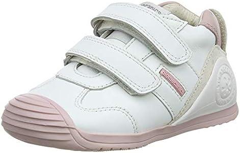 Biomecanics 151157-1, Zapatillas de Estar por casa Unisex niños, Blanco (Blanco Y Rosa (Sauvage) G), 24 EU