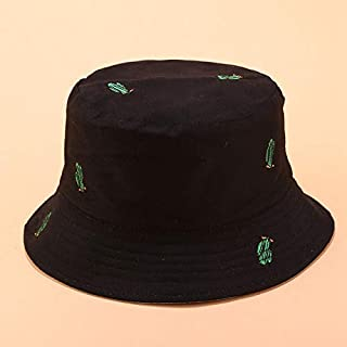 CHIC&TNK Cactus Embroidery Double-Sided Fisherman Hat for Men and Women Outdoor Sun Protection Bucket Kids Beanies