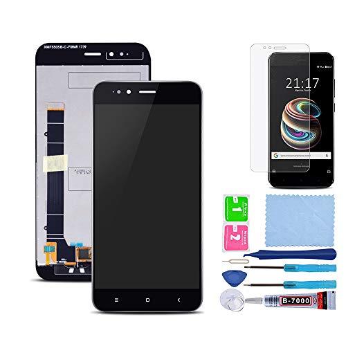Pantalla LCD Táctil Asamblea Repuesto Compatible con Xiaomi Mi A1 Negro con Herramientas + Película Templada