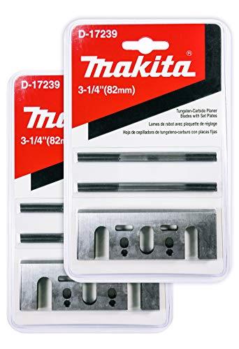 Makita - Juego de 2 cuchillas de doble filo para planchas de madera dura (3 1 4, 3 1/4 pulgadas, 2 unidades)
