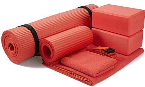 Product Image of the BalanceFrom GoYoga 7-Piece Set - Include Yoga Mat with Carrying Strap, 2 Yoga...
