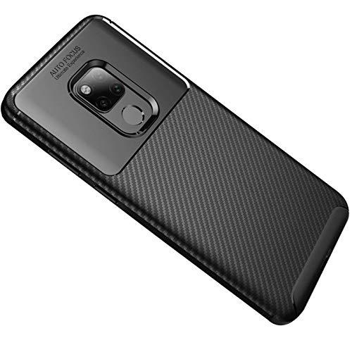 Generisch Huawei Mate 20X Hülle, Huawei Mate 20 X Handyhülle, Ultra Dünn TPU Silikon Anti-Fingerabdruck Anti-Scratch Hülle Carbon Handyhülle für Huawei Mate 20X (Huawei Mate 20X, Schwarz)