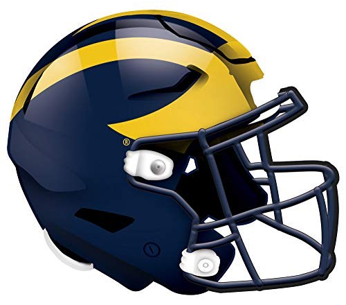 Fan Creations NCAA Michigan Wolverines Unisex University of Michigan Authentic Helmet, Team Color, 12 inch (C1008-Michigan)