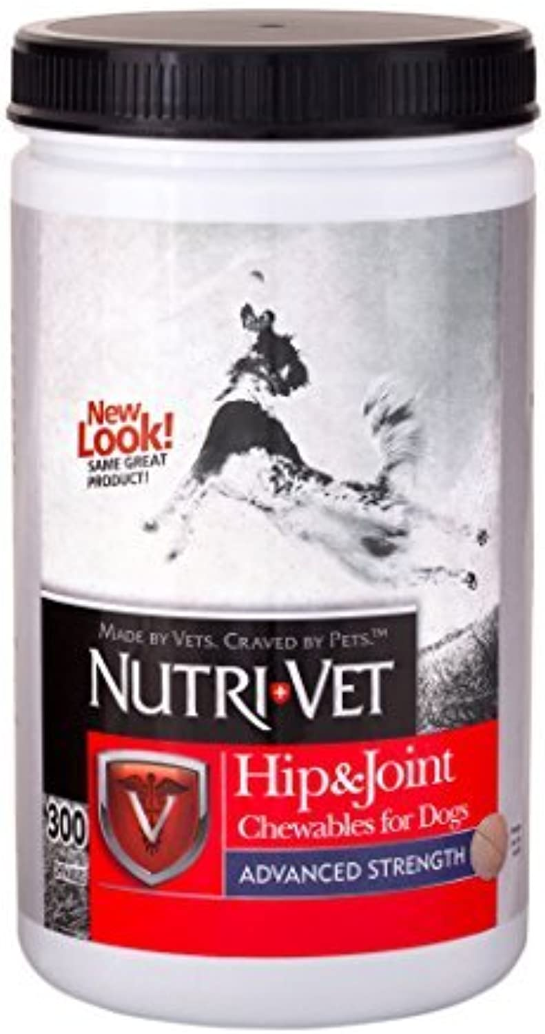 NutriVet Hip & Joint Advanced Strength Chewables for Dogs, 300Count by NutriVet Wellness