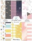 Scrapbook paper - Papeles decorados: 12 hojas a doble cara. 12 diseños