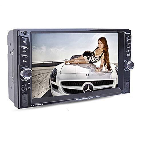 Boomboost 6.6 '' Touch Bluetooth 2 Autoradio Stéréo Lecteur MP5 stéréo AUX/Remote/USB HeadUnit + caméra arrière