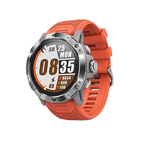 OROS Vertix 2 reloj de aventura GPS con mapeo global sin conexión, GPS de doble frecuencia, cristal de zafiro con revestimiento de diamante y bisel de titanio (Lava)