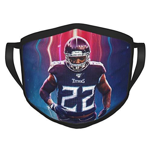 Derrick Henry Face Mask Cover Mouth, Dustproof Filter, Unisex Adult, Reusable Mask Black
