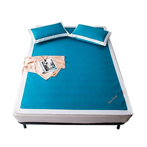 Materassini per il raffreddamento estivo Materassino per il sonno in seta lavabile con ghiaccio Tappetino imbottito per coprimaterasso pieghevole con 3, Materassino morbido per il sonno con aria condi