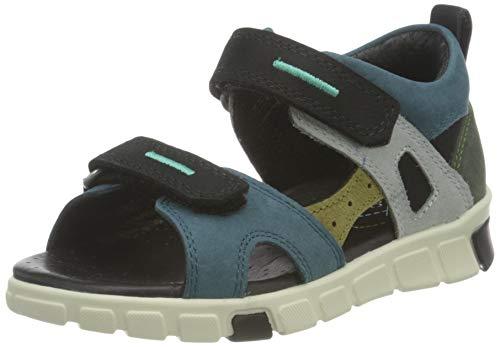 ECCO Baby-Jungen Mini Stride Flat Sandal, Grün(Multicolor Sea Port), 24 EU