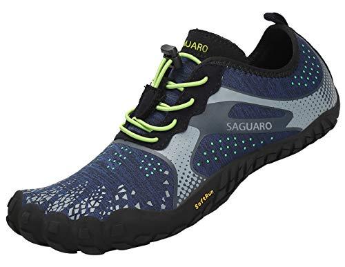 Zapatillas Deportivas Minimalistas Hombre Transpirable Zapatos de Agua para Nadar Yoga Surf Beach Azul 40