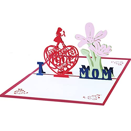Muttertagskarte,Papier Spiritz Muttertag Grußkarten,Geburtstagskarte für Mutter, 3D Pop Up Karte mit schönen Papier-Cut, Bestes Geschenk für Mama Geburtstag, inklusive Umschlag