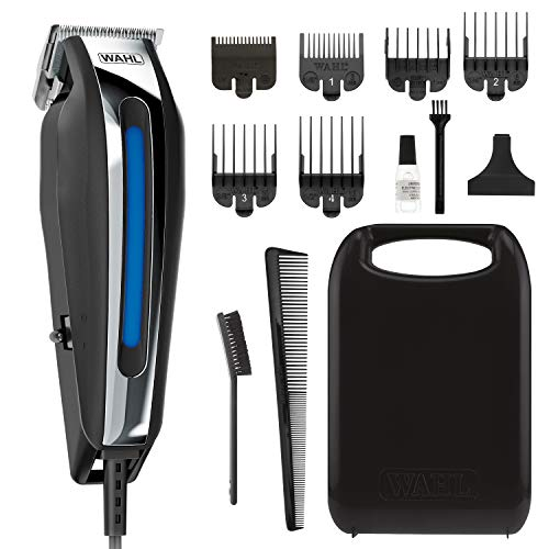 Wahl Clipper close cut Pro Haircutting Kit With Zero Overlap Blades for ultra Close Cutting, Beard Trimming, Body Grooming & Head Shaving – 13Piece Kit
