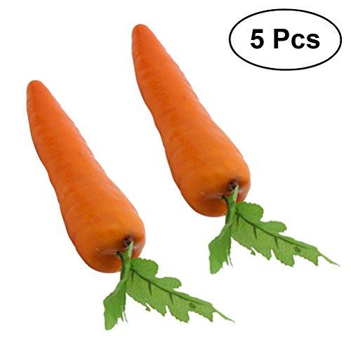 VORCOOL 5 Stücke Simulation Karotten Künstliche Gemüse Dekoration Fotografie Requisiten