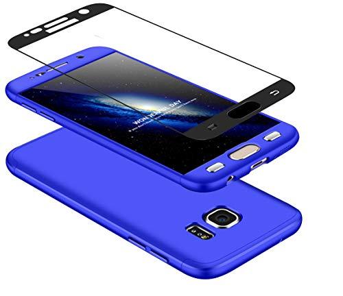 DECHYI compatibles para Funda Samsung S6,Cubierta + Cristal Templado Matte Ultra Slim...