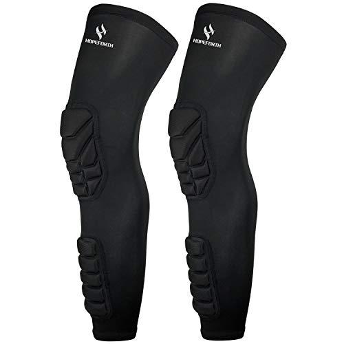 HOPEFORTH Knee Calf Padded 2 Pack Compression Leg Sleeve Thigh Sports...