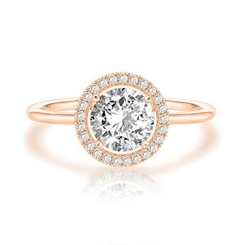 SWAROVSKI Crystal 14K Rose Gold Plated Birthstone Rings | Rose Gold Rings for Women | Diamond Ring