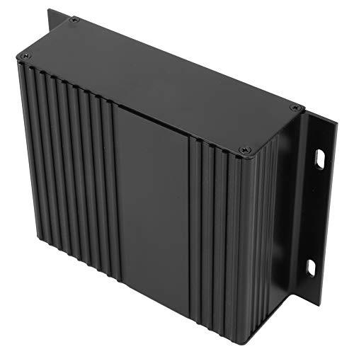 Caja de aleación de aluminio electrónica, caja negra de arena Caja de encargo Caja personalizada Caja de enfriamiento de aluminio Caja de circuito Aleación de aluminio para el controlador de vehículos