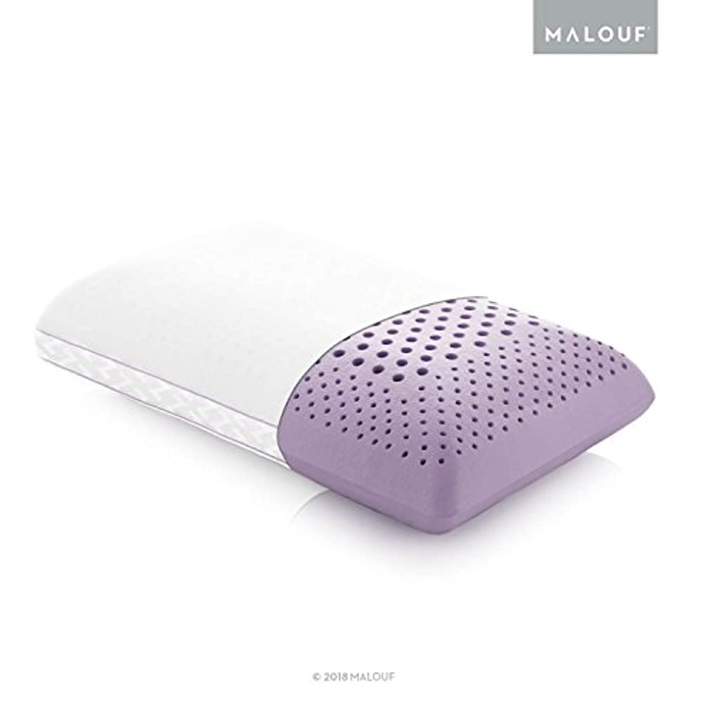 MALOUF Z Zoned Pillow Infused with All Natural Lavender Oil-New ACTIVEDOUGH Formula is Responsive, Supportive, and Plush-Mid Loft-Queen