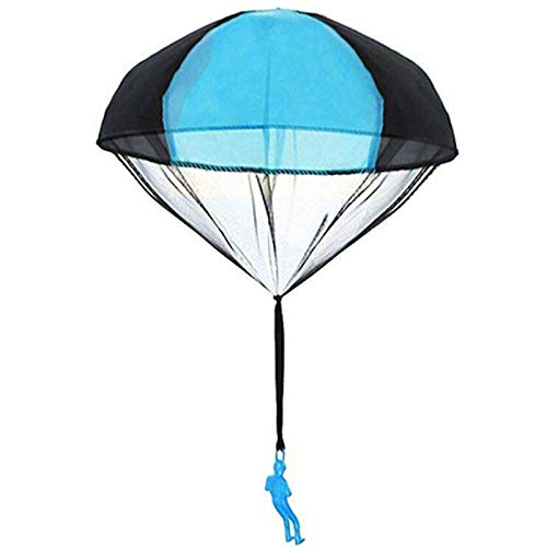 Fabsnug Parachute Toy Children's Flying Toys Tangle Free Throwing Hand Throw Parachute Army Man Toss It Up and Watching Landing Outdoor Toys for Kids Gifts(Blue)